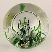 Kosta Sweden Handmade Art Glass Paperweight Vicke Lindstrand