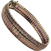 Sleek Italian Woven Sterling Silver Band Bracelet