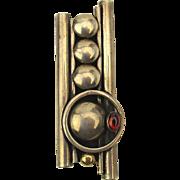 Unique Modernist Sterling Silver Brooch Pin Pendant