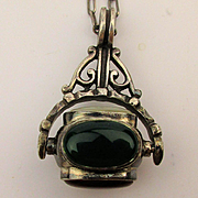 Sterling Silver Rolling Gemstone Pendant Necklace 4 Real Gems