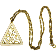 Reversible Two-Way 1960s Pendant Necklace