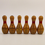 Bowling Champs Miniature Wood Duck Pin Trophies K of C