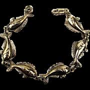 Sterling Silver Fish Link Bracelet