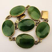 Gold-Filled Jade Jadeite Link Bracelet