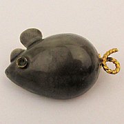 Little Fat Mouse Pin - Original by Robert Enamel Figural