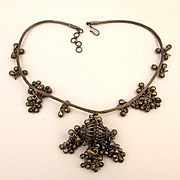 Old Rajasthan Sterling Silver Necklace w/ Jingle Dangles