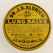 Old Orig. c1910 LUNG SALVE Tin Box Cure-All Quack Medicine.