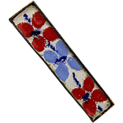 Old Enamel Floral Bar Pin by Pegi Werkstatte Germany
