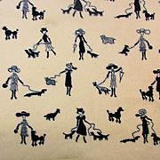 Vintage Cozy Mini Blanket Women Walking Dogs Crib - Dog