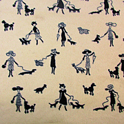 Vintage Cozy Mini Blanket Women Walking Dogs Crib - Dog