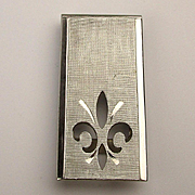 Vintage Silvertone Money Clip w/ Cut-Out French Flair