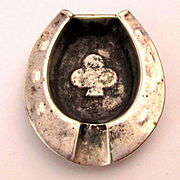 Vintage Mexican Sterling Silver Handmade Horseshoe Ashtray IPJ Eagle 33