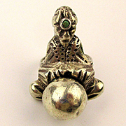 Old Mexican Sterling Silver Fortune Teller Ring