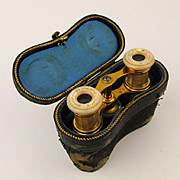 Antique French Lemaire Opera Glasses Binoculars w/ Case