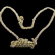 Vintage Playboy ~ Miss February ~ Faux Diamond Pendant Necklace
