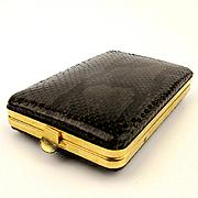 Vintage Snakeskin Cigarette Card Case Spain Snake Skin