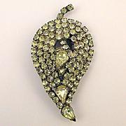 Art Deco Era Kandell & Marcus N.Y. Rhinestone Pin Brooch