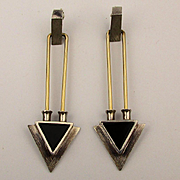 Modernist  J.P. Reardon Sterling Silver Long Arrow Pierced Earrings