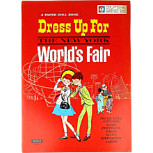 Vintage Dress Up For The New York World's Fair Paper Doll Book Uncut
