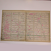 Antique Original 1879 New York City Map Theater District - Midtown - Original Old Map