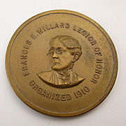 Old 1916 Women's WCTU Suffragette Bronze Token Award Legion of Honor
