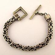 Vintage Lois Hill Unisex Box Weave Bracelet