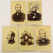 Antique CDV Photos Prussian Generals - 1870 Military Carte de Visite