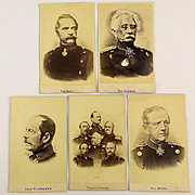 Antique CDV Photos Prussian Generals - 1870 Military Carte de Visite