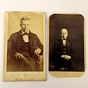 2 CDV Photographs by J.P. Ball - Early African American Photographer c1870