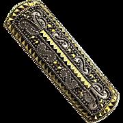 Vintage Judith Jack Sterling Silver Marcasite Pin Brooch a la Deco