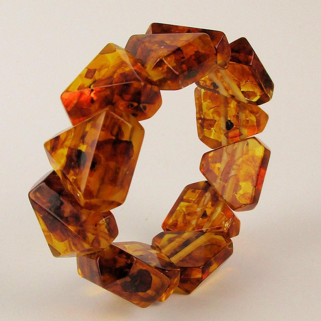 Vintage Baltic Amber Stretch Bracelet