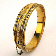 1930s Etched Dunn Bros. Gold-Filled Victorian Revival Bracelet