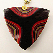 Lucite Layered Multi-Color Pendant Necklace