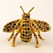 Kenneth Lane KJL Rhinestone Bug Flying Insect Ring