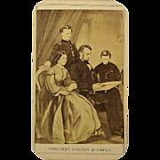Civil War Era CDV Photograph President Abraham Lincoln & Family