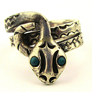 Vintage Mexican Sterling Silver Snake Ring