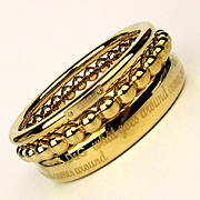 Dolce & Gabbana Heavy Gold-Tone Bracelet Set 3 Retired Design Bangles c1990