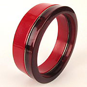 Cherry Red - Wine Red Fused Lucite Bangle Bracelet