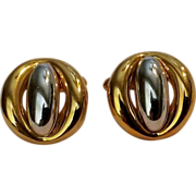 Givenchy cufflinks two tone 1977