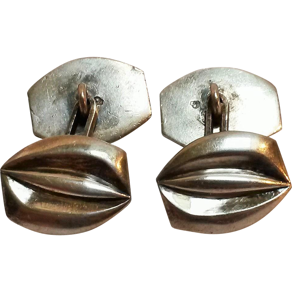 900 Silver Austria cufflinks double sided