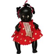 Miniature all bisque black Americana doll souvenir New Orleans
