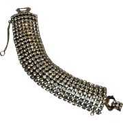 Weiss rhinestone bracelet wide eight row