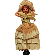 Bathing Beauty bisque figurine doll flipper with clothes