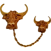 Razza chatelaine pin longhorn ox bull steer