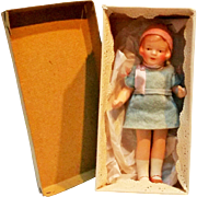 Miniature composition flapper girl doll Germany