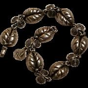 Taxco sterling leaf bracelet VA eagle 3