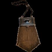 Rare Whiting Davis Dresden mesh vanity compact dance purse Silhouette