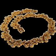 Signed Swarovski aurora borealis crystal rhinestone necklace
