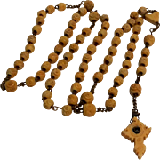 Antique carved bone Stanhope Rosary holy communion view