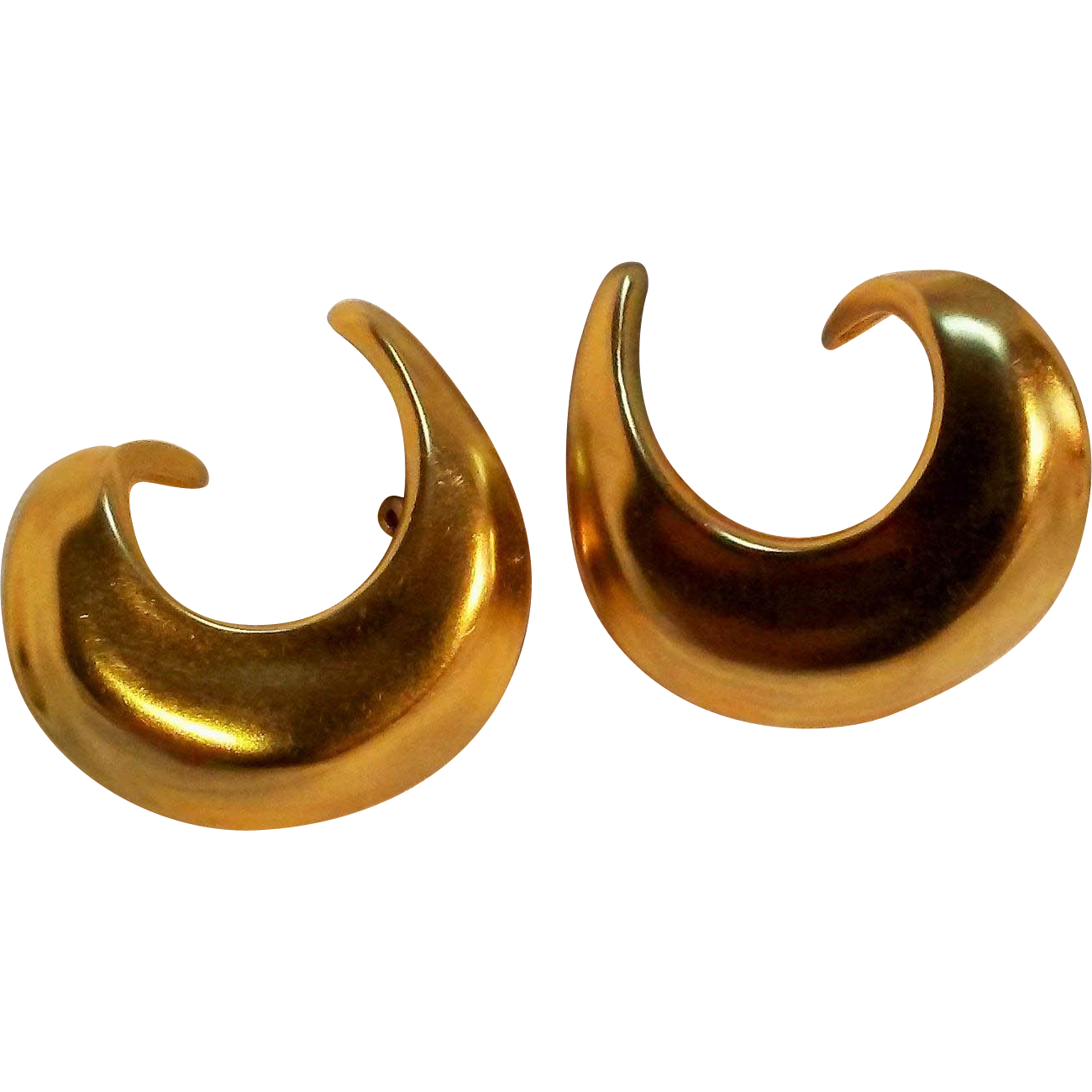 Robert Lee Morris Modernist hoop clip earrings